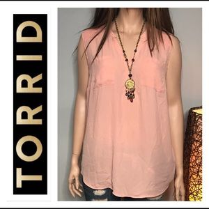 🐠Torrid Pink Blush 4X Sleeveless Top🐠